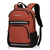 Veevanpro Cooler Backpack Insulated Backpack Cooler Lightweight Skateboard Backpack Leakproof Soft Cooler Bag 25 Cans, Orange Red