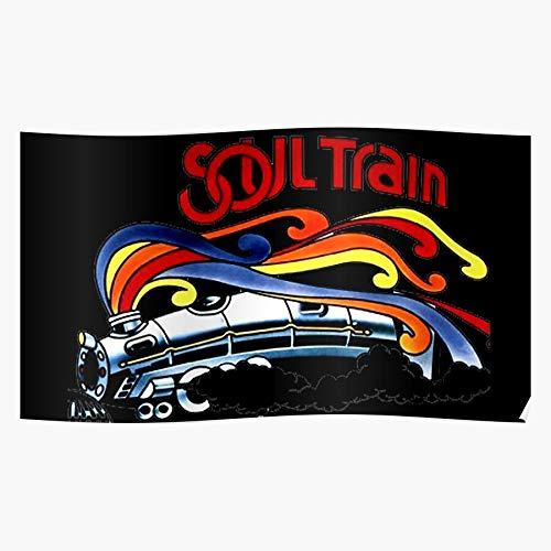 Retro Music Soul Afro Train 70S Home Decor Wall Art Print Poster !
