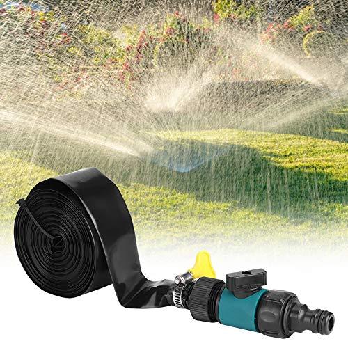 【𝐎𝐬𝐭𝐞𝐫𝐟ö𝐫𝐝𝐞𝐫𝐮𝐧𝐠𝐬𝐦𝐨𝐧𝐚𝐭】 Rasensprinkler-Kit, Green Garden Sprinkler Bewässerungs-Bewässerungsschlauch-Kit für die Hofkühlung Sommerwasserparty Kindertrampolin-Spiel(12meter-1)