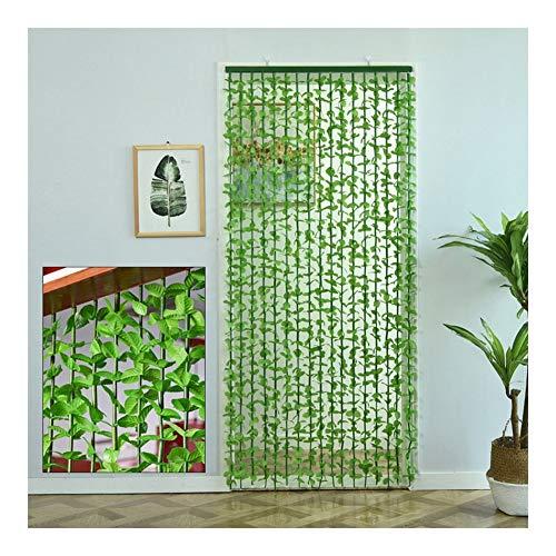 Vorhänge Wärmeschutzvorhang Künstliche Grüne Blätter Bambus Trennvorhang Bieten Sie Privatsphäre Anti-UV Haus Dekoration Türen Und Fenster Für Restaurants Und Krankenhäuser Lsxiao