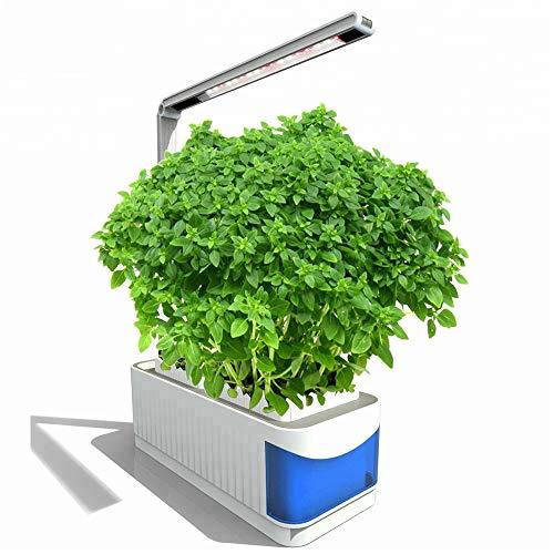 NINI Intelligent intérieur Plantation Jardin sans Hors Fleur Pot créatif Paresseux hydroponique Fleur Vert végétal végétal LED Lampe de Table