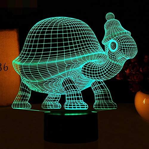 JFSJDF Tortoise 3D Lamp Remote Touch Elegant Purchase Tabl LED Sea Animal Turtles