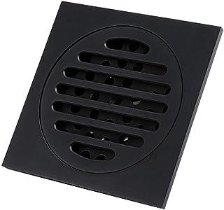 ステンレス製シャワー床排水 スクエアバスルームの床ドレンキッチン、トイレの消臭床ドレン排水排出キャップ(黒) ステンレス鋼の正方形のバスルームの床ドレン (色 : ブラック, サイズ : 10 x 10 x 4.1cm)