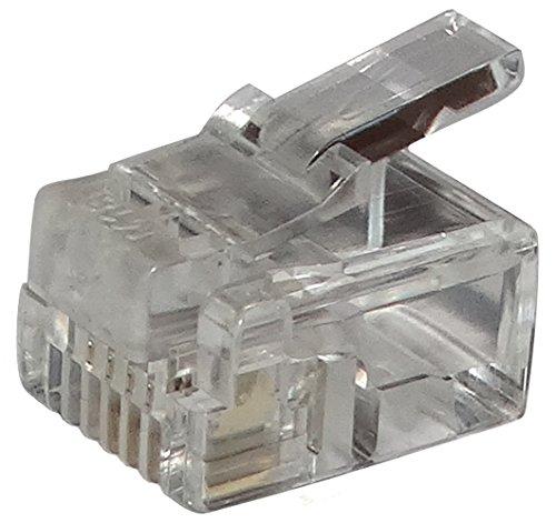 AERZETIX: 10 x Conectores Enchufe RJ11 4 Pines 6p4c