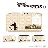 new Nintendo 2DS LLシリーズ カバー ケース ハード 長靴を履いた猫 ベージュ アーガイル チェック