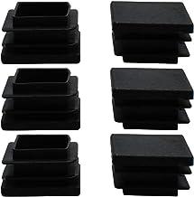 """DealMux 6 stks 30 x 30mm Plastic Vierkante Geribbelde Buis Inserts Eindhoezen Cap, voor 1 """"tot 1.16"""" Binnenmaat, Meubeltaf..."""