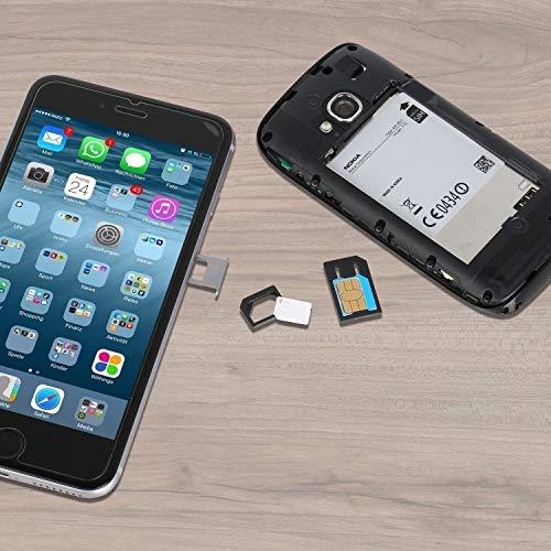 Wicked Chili Dual Sim Stanze und 4in1 Sim Karten Adapter Set (Nano, Micro, Standard, Eject Pin) für Handy, Smartphone und Tablet - 3