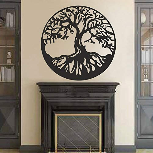 BATTOO Tree of Life Vinyl Wall Decal Sticker - Celtic Tree Life Wall D¨¦cor Culture Symbol Office Living Room Yoga Studio Wall Decoration(32' h x32 w,Black)