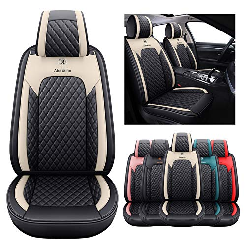 2 Front Seat Covers for Cars Leather Waterproof...