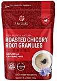Chicory Root Roasted Granules, 1 Pound, Chicory Coffee (Inulin, Prebiotic Dietary Fiber) Rich Flavor, Caffeine Free, Natural Tea and Coffee Substitute, Keto, Kosher