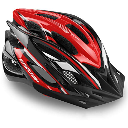 Specialized Bike Helmet Basecamp Bicycle Helmet with Helmet AccessoriesLed Light/Removable Visor/Portable Bag Cycling Helmet Bcddtk Adjustable for Adult MenampWomen RoadampMountain