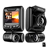 Dash Cam for Cars Front and Rear Dual Car Driving Camera Wifi Full HD 1080P with Night Vision, Motion Detection, Parking Monitoring, G-Sensor, Loop Recording (32GB SD Card Included)