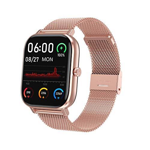 Yumanluo Smart Band Smart Watch,Pulsera de monitoreo de presión Arterial de frecuencia cardíaca, Reloj Inteligente de Charla Impermeable-Jin Gang,Pulsera Inteligente con Pulsómetro