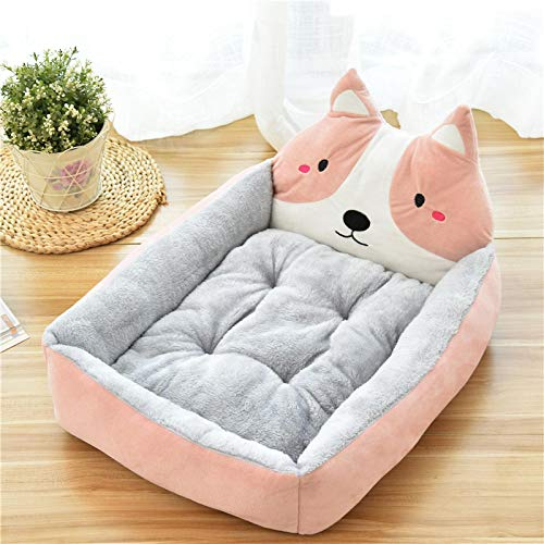 ZHEBEI Creative Cute Animal Cartoon Forma Pet Dog Materasso Staccabile Divano Morbido Inverno Caldo Pet Nest 60X50X14CM B