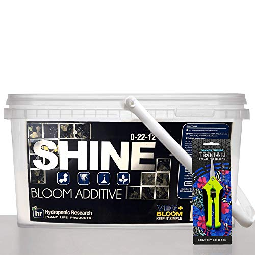 5 lbs Shine by Veg + Bloom- A Hydroponic Powder That Enhances The Bloom Stage of Plant Growth. Add to Reservoir During to Maximize Crop Production | Common Culture Trimming Scissors Included