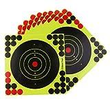 Andifany 50 Unids/Set Objetivos de Caza 8X8 Pulgadas Papel Autoadhesivo Objetivos de Salpicadura Reactiva Pegatinas
