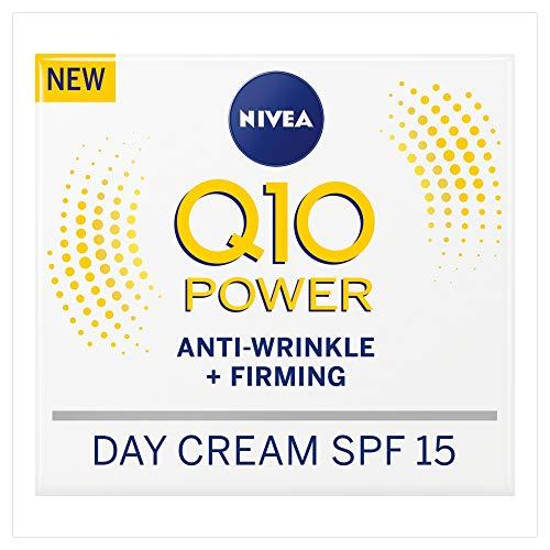 Nivea Q10 Power Anti-Wrinkle + Firming Day Cream SPF15 (50 ml), Anti Ageing...