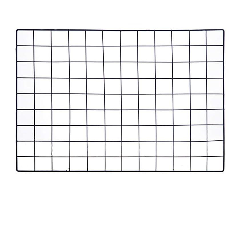 ShouYu DIY Grid Photo Wall,Multifunction Wall Mounted Ins Mesh Display Panel,Wall Art Display Organizer,Memo Board (65 x 45cm,Black)
