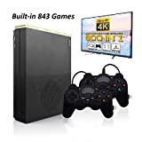 MJKJ Retro Game Console , 4K HDMI TV Output Video Game Console Built-in 843 Classic Game Console with 2PCS Joystick - Black