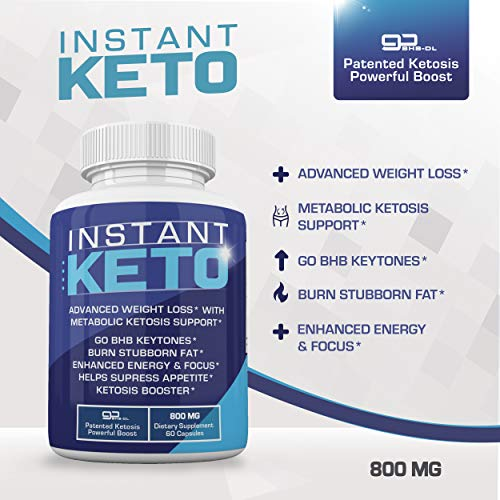Instant Keto - Advanced Weight Loss with Metabolic Ketosis Support - 800MG - 60 Pills - 30 Day Supply 2