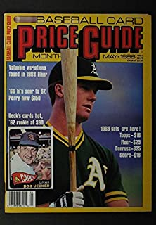 MAY 1988 BASEBALL CARD PRICE GUIDE, BOB UECKER MARK MCGWIRE COVER NICE