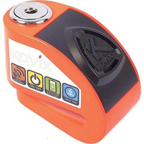 KOVIX KD Series-BLOCCADISCO con Alarma 6 mm KD6-FO, 18 x 8 x 10 cm