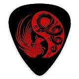 ギターピック ピック ギター用 レッド フェニックス ドラゴン ィックギター 12枚セット エレキギター/アコースティックギター/ベース用ピック 三種類厚さ 0.46/0.71/0.96mm*4 初心者 練習用 可愛い 音楽ギフト 多種多色 耐久性 トライアングル