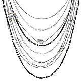 Immagine 1 imetaclii argento nero choker collare