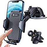 Andobil Car Phone Mount Easy Clamp, [Super Suction & Durable] Universal...