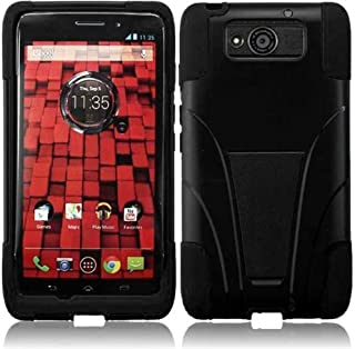 AZ COVER - 2 Layer Protector Cover with Kickstand for Motorola Droid Ultra XT1080 MAXX 1080M - Black