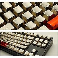 メカニカルキーボードのキーキャップメタルシルバーゴールド37の鍵/ 14 / Fエリア/ファンクションエリア/大型キー位置/数 汚れ防止 (Color : Gold s 14 key, Size : 11)