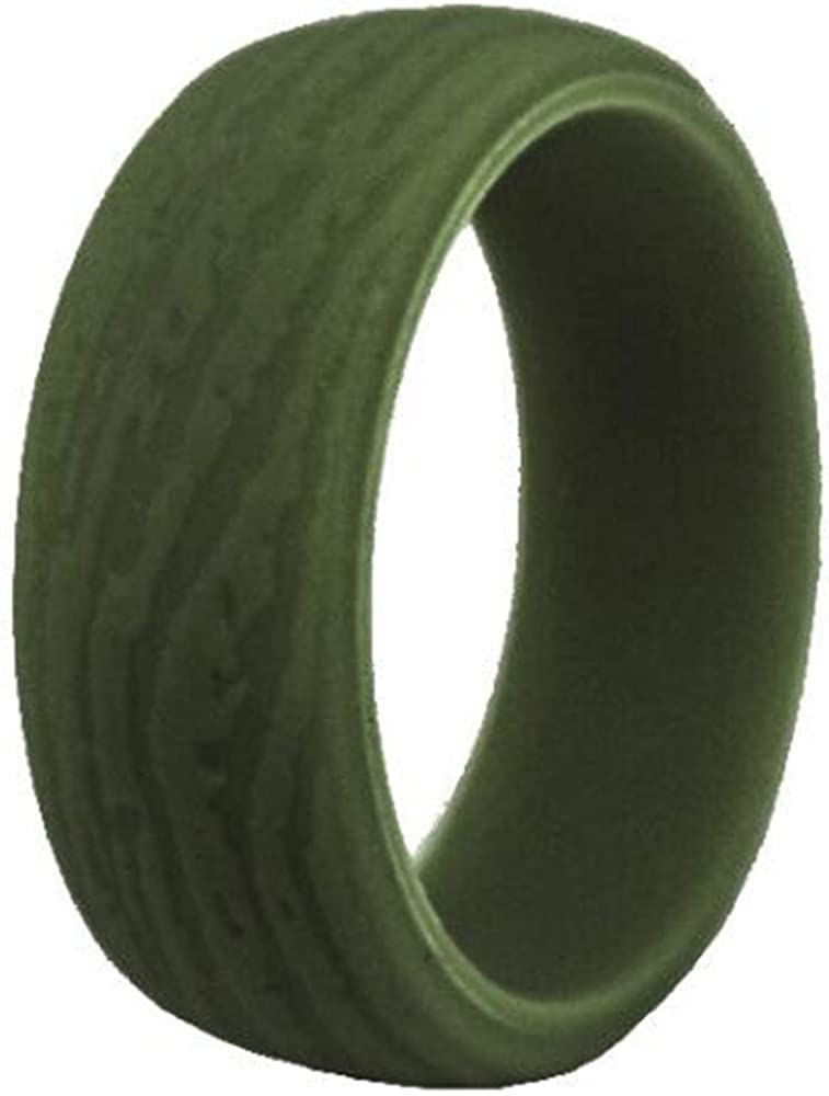 9mm Retro Vintage Silicone Rubber Wedding Band Band Ring