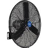 Outdoor Oscillating Wall Mounted Fan, 30' Diameter, 3/10HP, 8400CFM