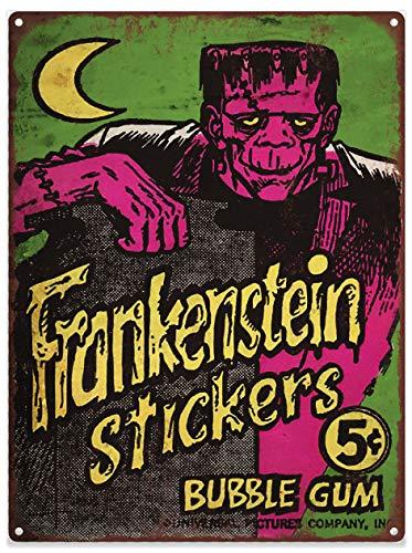 Yohoba 1965 Frankenstien Pegatinas Gum Publicidad Baked Metal Repro Sign 12 x 18 Pulgadas: Amazon.es: Hogar