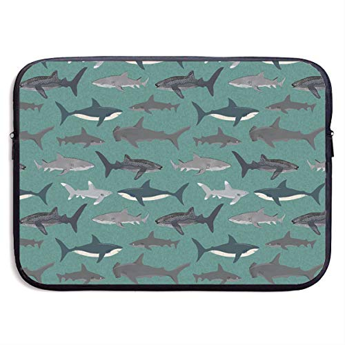 Waterproof Laptop Sleeve 13 Inch, Shark Pattern Business Briefcase Protective Bag, Computer Case Cover for Ultrabook, MacBook Pro, MacBook Air, Asus, Samsung, Sony, Notebook