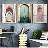 MULMF Marokkanische Tür Wandkunst Gold Koran Arabische