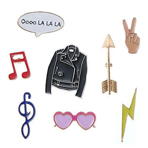 8 pcs Fashion Cute Cartoon solapa Pin Set DIY broche pins para ropa bolsas mochilas sombreros Jeans chaqueta