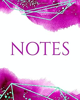 NOTES: Rose Watercolor Luxe Notebook - Journal - Diary (Lined)