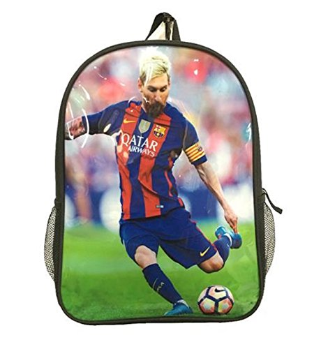 Barcelona Messi #10 Soccer Backpack School Bag Gift for Messi #10 Soccer Fans Dimensions H 16.3 x W 11.8 x D 5.9 in