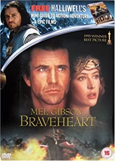 Braveheart DVD includes free Halliwells Guide to Action, Adventure and Epic FIlms by Mel Gibson