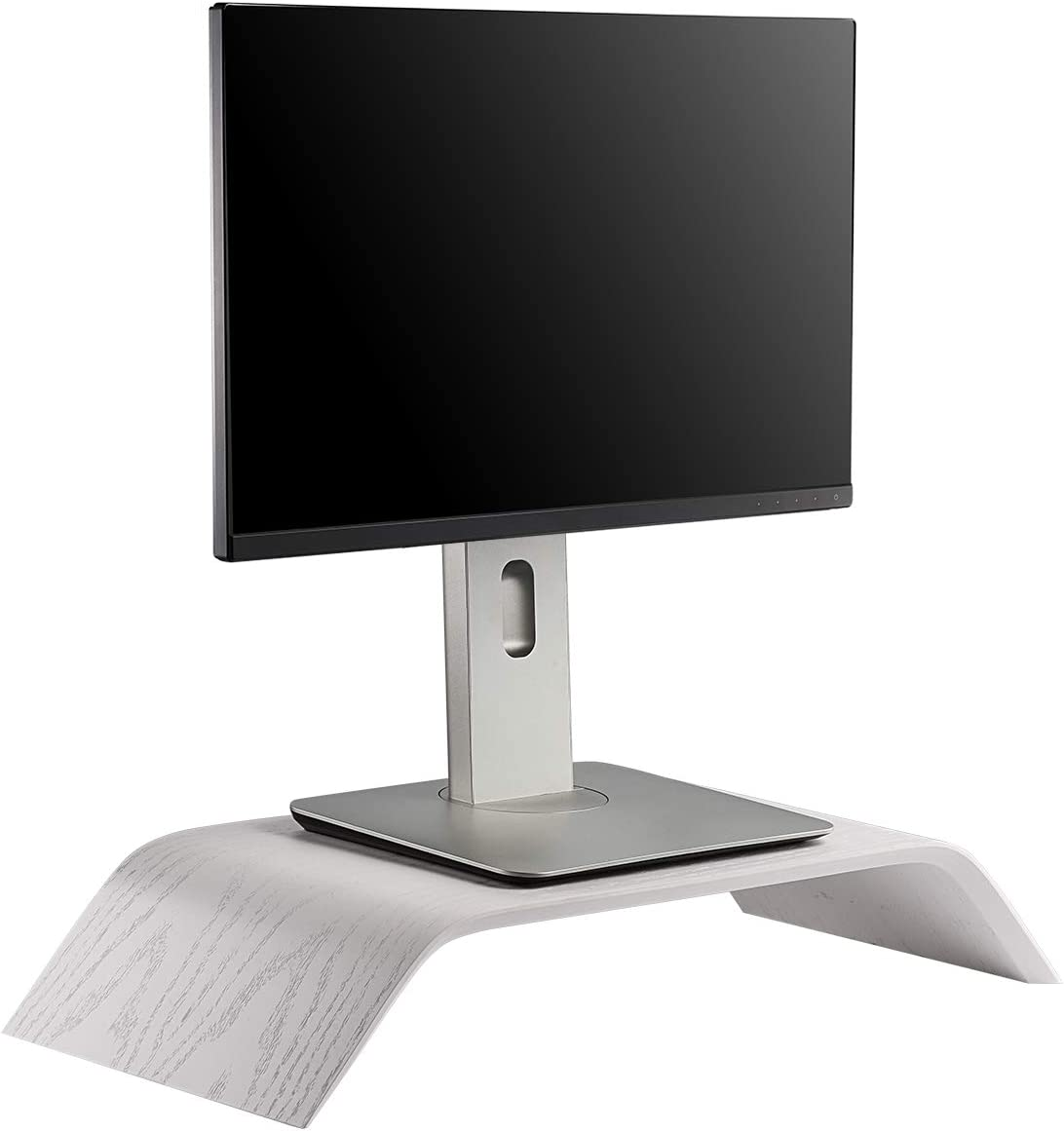Samdi Wooden Computer Monitor Stand, Desktop Accessories, Laptop Stand, Notebook Stand, for MacBook Stand (Oak Wood White)