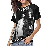 MeiShop Custom Raglan Short Sleeve T Shirts tee Shinedown iTunes Session Womens Music Theme Print T-Shirt Camisetas Cortas para Mujer
