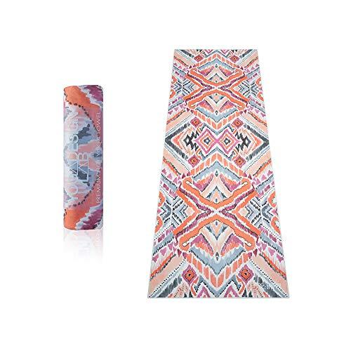 Yoga Design Lab | DE HOT YOGA TOWEL | Premium niet-slip kleurrijke handdoek | Ontworpen in Bali | Eco-gedrukt + snel droog + mat gematteerd | Ideaal voor Hot Yoga, Bikram, Ashtanga, Sport, Reizen