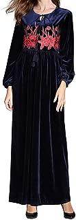 Muslim Maxi Dress Women Abaya Dubai Embroidery Long Dress Robe Islamic Kaftan Jilbab