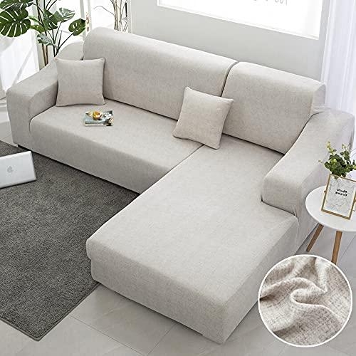 WXQY Funda para sofá de Esquina Funda para sofá elástica para Sala de Estar, Funda para sillón para sofá, Funda para sofá Todo Incluido, Funda para sofá A20 de 4 plazas