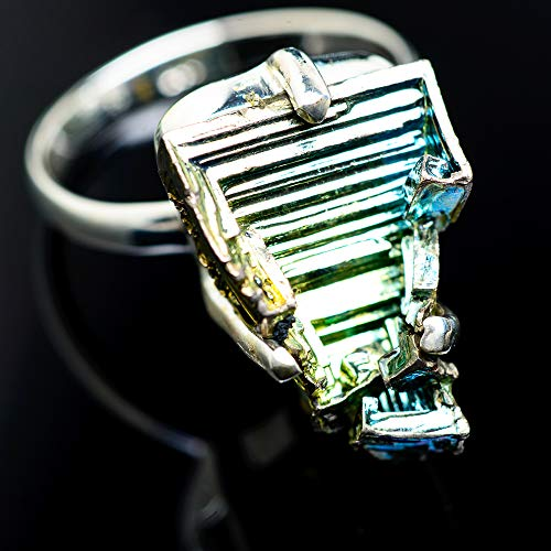 Ana Silver Co Bismuth Crystal Ring Size 9 (925 Sterling Silver) - Handmade Jewelry, Bohemian,...