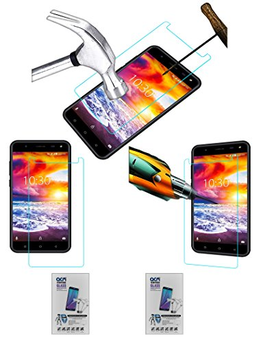Acm Pack of 2 Tempered Glass Screenguard Compatible with Karbonn Titanium Jumbo 2 Mobile Screen Guard Scratch Protector
