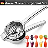 Large Lime Squeezer Bowl, Lemon Juicer Squeezer Stainless Steel with Premium...