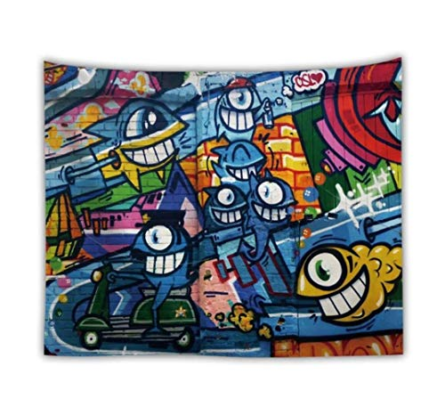 Tapiz de graffiti de hip-hop creativo cojín de tapiz personalizado personalizado decoración del hogar personalizada entrega de gota de agua