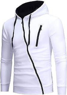 MogogoMen Jackets Slim Fit Full Zip Color Splice Cardigan Sweatshirt